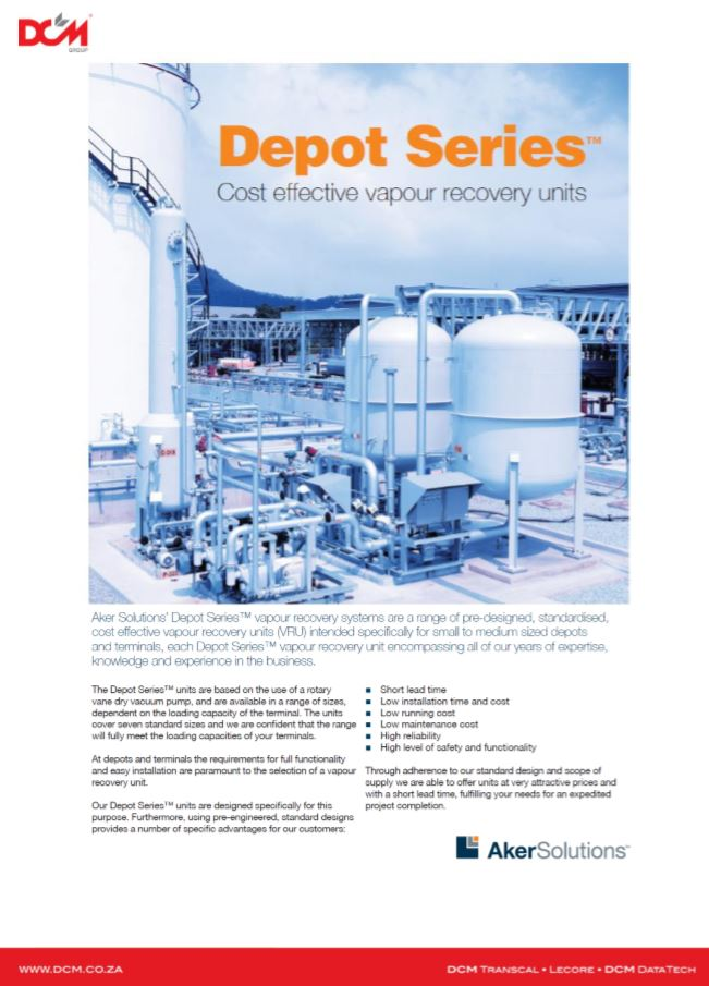 Depot Series Cost Effective Vapour Recovery Units