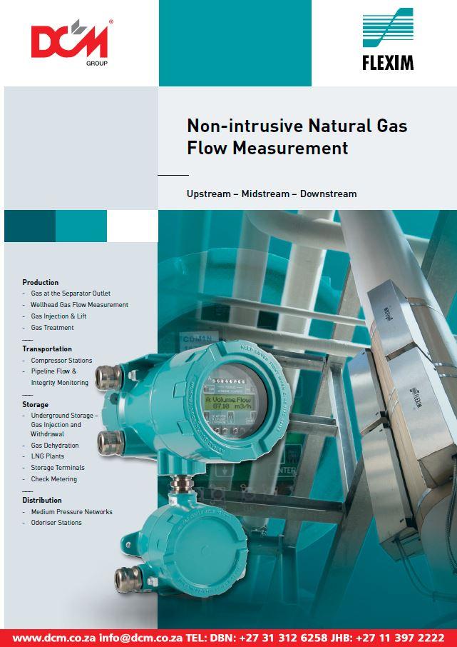 Flexim Non-Intrusive Natural Gas Flow Measurement Flyer